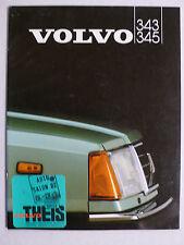 Prospekt Volvo 340 / 345 (343 L - 343/5 GLS), 2.1982, 26 Seiten
