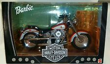 "1999 Mattel 26132 ""HARLEY-DAVIDSON MOTORCYCLES""Collector Ed BARBIE Fat Boy 1:6"