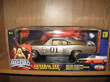 "1 18 ERTL JOYRIDE 69 CHARGER ""THE GENERAL LEE"" DIRTY CHROME CHASE DUKES HAZZARD"