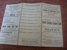 SOUTH SHIELDS  v EPPLETON  Original Cricket Club Score Card  08/05/1954