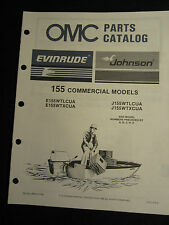 1987 Evinrude Johnson 155 HP Commercial Outboard Parts Catalog Manual FACTORY
