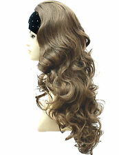 3/4 Wig Fall Half Wig Golden Light Brown Clip In Hair Piece. Vogue Wig UK