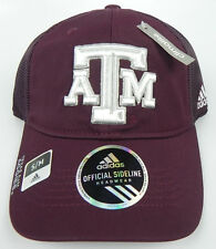 TEXAS A&M AGGIES ADULT S/M FLEX-FIT ADIDAS NCAA OFFICIAL SIDELINE CAP HAT NWT!