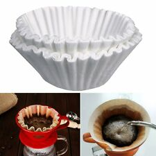 50x White Filter Paper For Coffee Machine Brewer Maker Basket Dripper 24CM