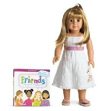 American Girl Chrissa and Sonali's Friend GWEN DOLL and BOOK  hard to find