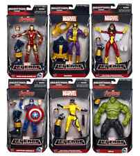 MARVEL LEGENDS AVENGERS SERIES WAVE 2 SET OF 6 BUILD A FIGURE BAF THANOS