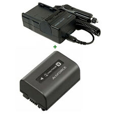 Battery + Charger For SONY NP-FV70 NP-FV30 NP-FV50 FV90 Rechargeable Lithium-ion
