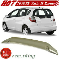 Unpaint For HONDA FIT 2nd Jazz Hatchback Rear Trunk Spoiler DX LX Sport 09-13