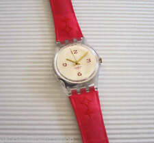 "GOLDEN FAUCET! Elegant Lady ""STAR"" Swatch with Red Fabric Band-RARE!"