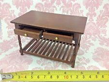 Dollhouse Miniature Furniture Wood Table Desk Drawers Cabinet 1:12