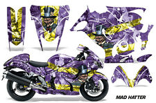 AMR Racing Graphic Kit Wrap Part Suzuki Hayabusa 1300 Street Bike 08-13 MAD HAT