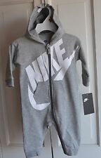 NWT $40 Nike Logo Baby Boy Hoodie Bodysuit Romper Clothes Size 6/9 MO