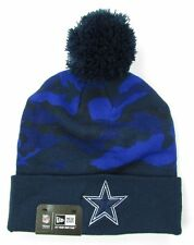 NFL Wollmütze/Wintermütze DALLAS COWBOYS Blue Camoflage cuffed Knit hat Pommel