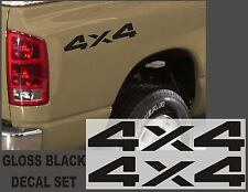 4x4 Truck Bed Decals, Black (Set) for Dodge Ram or Dakota