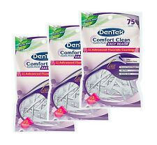 DenTek Comfort Clean Floss Picks - Back Teeth - Easy reach - set of 3 packs