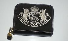 Juicy Couture Signature Scottie Dog Black Zip Around Wallet Clutch