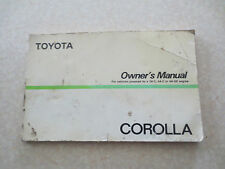 Original 1986 Toyota Corolla Australian Owner's Manual 4AGE & 2AC & 4AC engines
