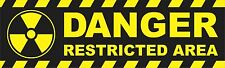 Danger Restricted Area Bumper Sticker Decal Nuclear Zone Skateboard Car aN