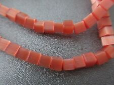 Orange Cat's Eye Cubes Beads 105pcs