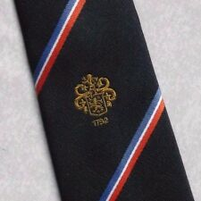 BEAMISH & CRAWFORD TIE CLUB COMPANY LOGO CORK IRELAND VINTAGE RETRO NAVY 1980s