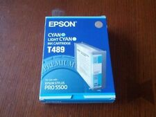 GENUINE AUTHENTIC EPSON T489 CYAN LIGHT CYAN INK CARTRIDGE EPSON STYLUS PRO 5500