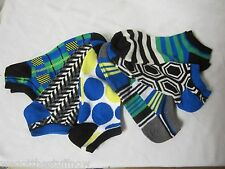 6 Pairs Lane Bryant Sport No Show Colorful Socks size 10-12 NWT