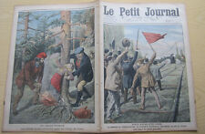 le petit journal 1910 1015 Gravures Gare Villeneuve-le-roi crime en Corse