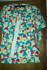 2 Piece Leslie Fay white with floral design suite BNWT