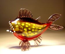 "Blown Glass Figurine  ""Murano"" Art Fish PIRANHA"