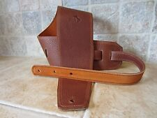 "Italia Leather Straps: Guitar Bass Strap 4"" Wide USA Made"