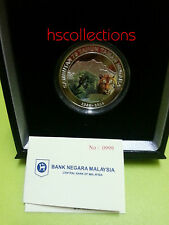 Malaysia 75th Anni of Taman Negara Single silver proof Coin Solid Number 999