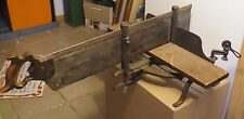 Antique Cast Iron Miter Box & Saw TRUE Saw Made By Nicholls Ottumwa Iowa