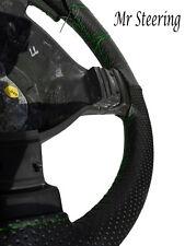 Pour BMW E46 série 3 en cuir noir perforé volant couvrir piqûre verte
