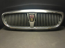 ROVER 75 CHROME FRONT GRILL COVER TRIM WITH BADGE  GENUINE DHB102540