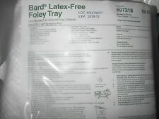 BARD FOLEY CATHETER TRAY 18FR Latex Free STERILE Urinary Leg Bag OSTOMY