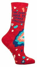 Blue Q SW440 I'm Not Here To Make Friends Woman's or Girls Crew Socks