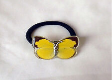 Yellow Emigrant Butterfly Hair Head Band Rope - Real Insect Charm BS102