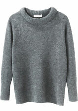 ISABEL MARANT ETOILE 'addyson long sleeve knit' grey jumper sweater wool yak 40