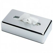 Winware Chrome Coloured Rectangular Tissue Holder/ Cover/ Box. Tissues Included