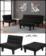 Modern Accent Chair Couch Lounge Chaise Large Seating Sofa Recliner Black