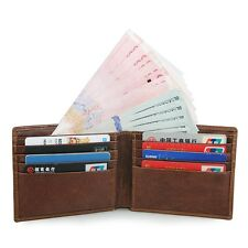 J.M.D Men's RFID Blocking Leather Brifold Wallet with Front Pocket Card Holder