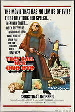 THEY CALL HER ONE EYE 1974 U.S 1 sheet poster Christina Lindberg  filmartgallery