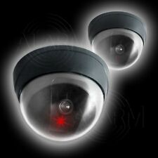 2 x Wireless seguridad cámara Dome first alarma cúpula Dummy vigilancia mediante vídeo