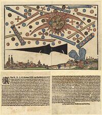 UFO Battaglia di Norimberga, Germania 1561 sfocate GIORNALE CLIPPING REPLICA (ART)