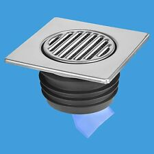 McAlpine150mm Stainless Steel Tile With Non-Return Valve Push Fit    FGT150-SV-1