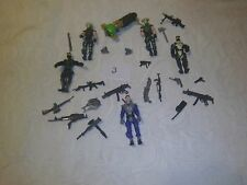 "GI Joe action figure lot 3 3/4"" warriors with weapons and water jet pack #2"