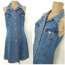 Vintage 80s Jean Bandage Dress Size Medium Denim Mini Pencil Rockstar Blue
