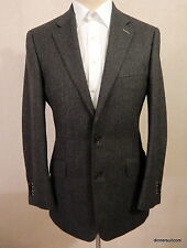 "mens 38"" Reg HOLLAND & SHERRY Savile Row Herringbone Wool Blazer SUPERB"