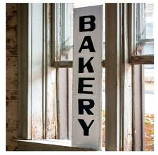Farmhouse Vintage Style Metal Advertisement BAKERY Sign Wall Hanging