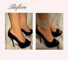 Pair of Beautiful Sparkling Silver Beaded Anklets, Ankle Glams, Barefoot Sandals